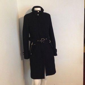 Zara Black Belted Coat S M
